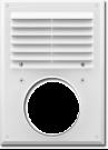 Вентиляционная решетка с сеткой против насекомых с фланцем 240х180мм д.120мм