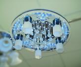 8235 LED Люстра LED 6х 1W +5 x60W E27