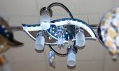 8259/4+1 LED Люстра гал G4х1х20W + 4x60W E27
