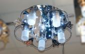 8053 LED Люстра гал. G4х1х20W +5 x60W E27