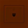 702-0303-137 Розетка телефонная евро крем