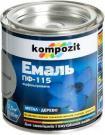 """Эмаль ПФ-115 """"Kompozit"""" (черный, матовый, 2,8 кг)"""