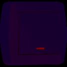 711-0200-111 DEMET Выключатель с подстветкой белый (10шт / 120шт)