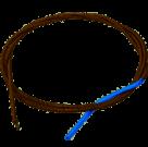 Трос для прочистки канализации 8 мм, 2,5 м 83-0902