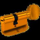 KALE Цилиндровый механизм 164 / BME 71 (26 + 10 + 35) mm, латунь, с вертушкой на длинной стороне