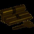 KALE Цилиндровый механизм 164 BNE / 70 (30х10х30) mm латунь 5 кл.