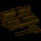 KALE Цилиндровый механизм с вертушкой 164 BM / 68 (26 + 10 + 32) mm никель 5 кл.