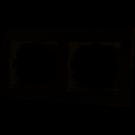 Рамка второй горизонтальная белый  DERIY 702-0200-147