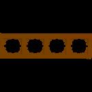 Рамка четырехместная Lezard DERIY горизонтальная кремовый 702-0300-149