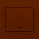 Выключатель 1-клавишный с подсветкой LEZARD DERIY 702-0303-111 крем