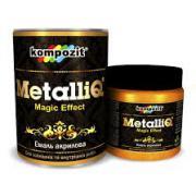 Эмаль акриловая Kompozit METALLIQ Красное золото 0,1 кг