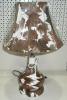 9365 Настольная лампа кожа Е27х60W