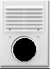Вентиляционная решетка с сеткой против насекомых с фланцем 240х180мм д.100мм