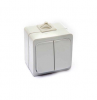 Выключатель двойной влагозащитный МЕРА ( 10 шт)