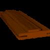 Коробка дверна ПВХ ТМ ОМИС, 80х33мм, орех